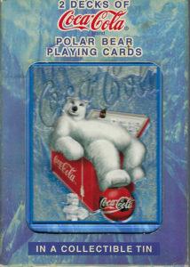 2 decks of Coca Cola Polar Bear playing cards