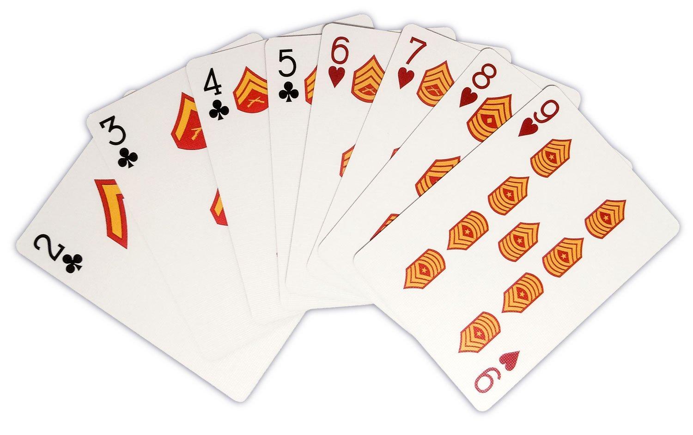Marine Corps Rank Playing Cards